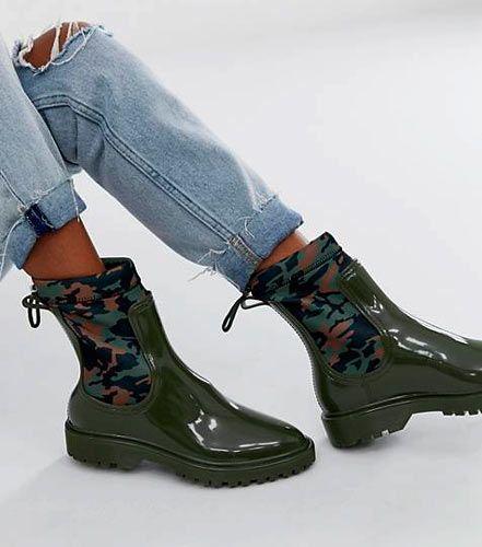 botas agua mujer