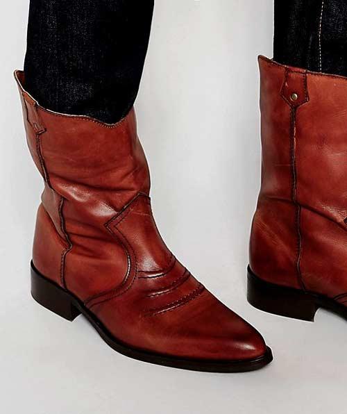 botas cowboy de media caña