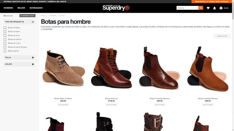 botas hombre superdry
