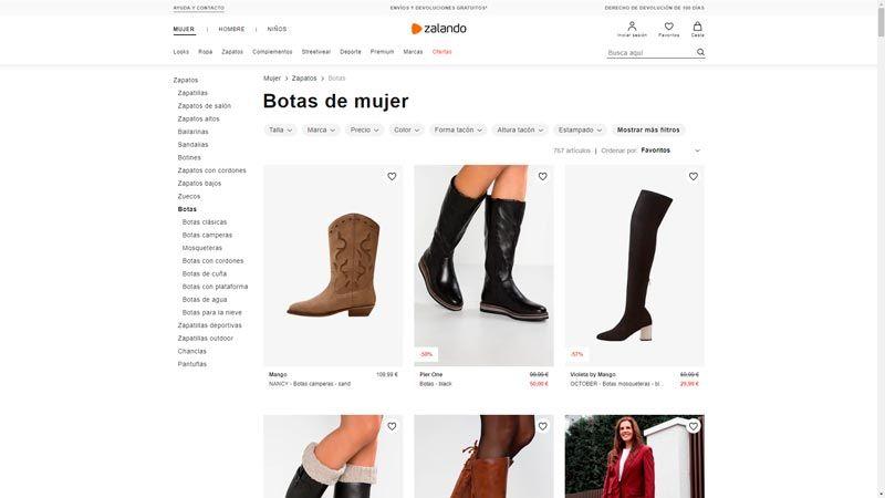 botas mujer zalando