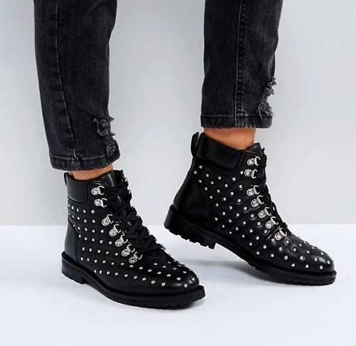 botas planas media caña