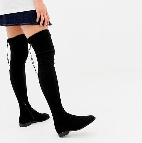 botas planas mujer