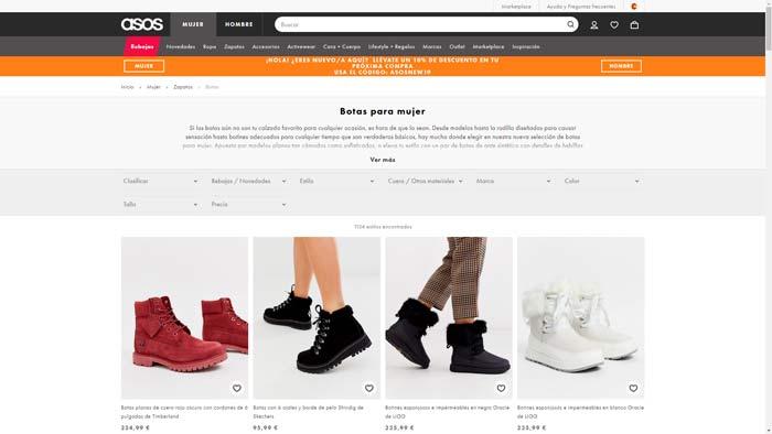 botas pelo baratas
