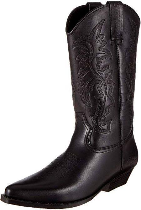 botas cowboy negras