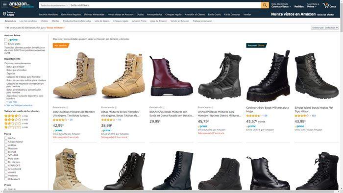 botas militares amazon