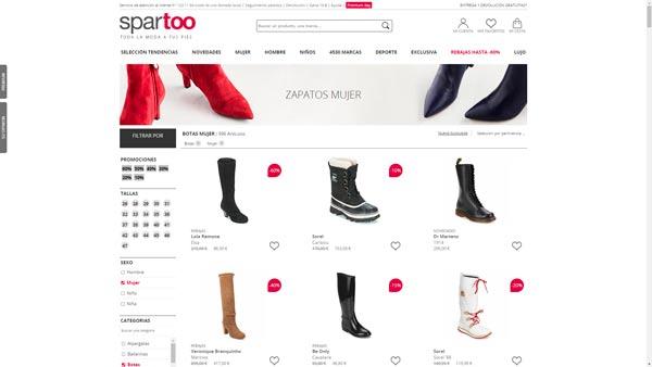 botas plataforma baratas