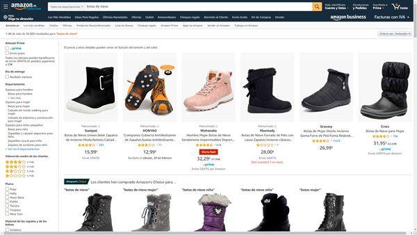 comprar botas de nieve amazon