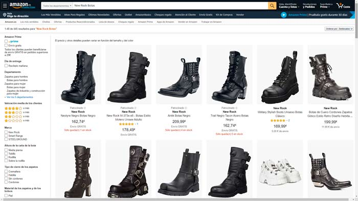 botas new rock amazon
