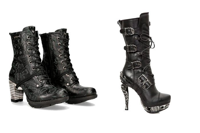 botas new rock tacon