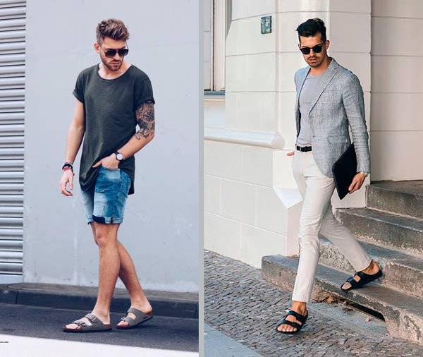 combinar sandalias hombre