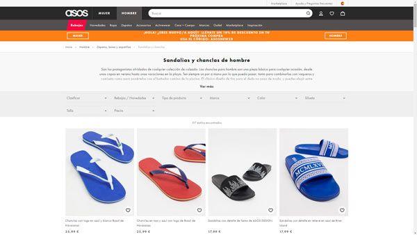 sandalias de hombre baratas