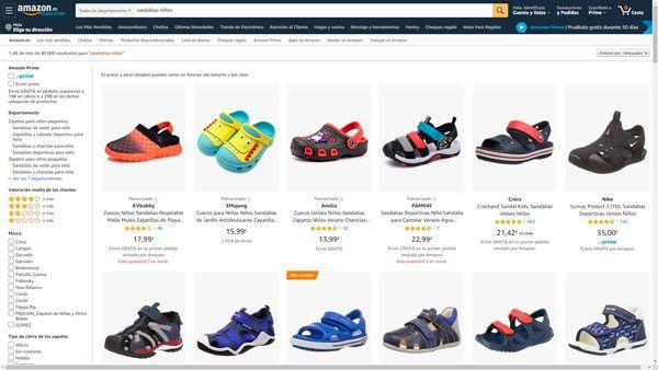 sandalias niños baratas