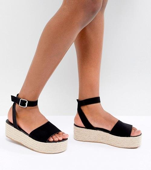 sandalias plataforma negras