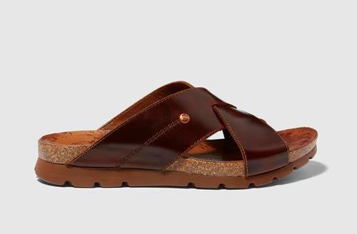 sandalias piel hombre