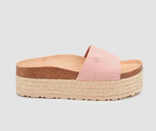 sandalias planas plataforma